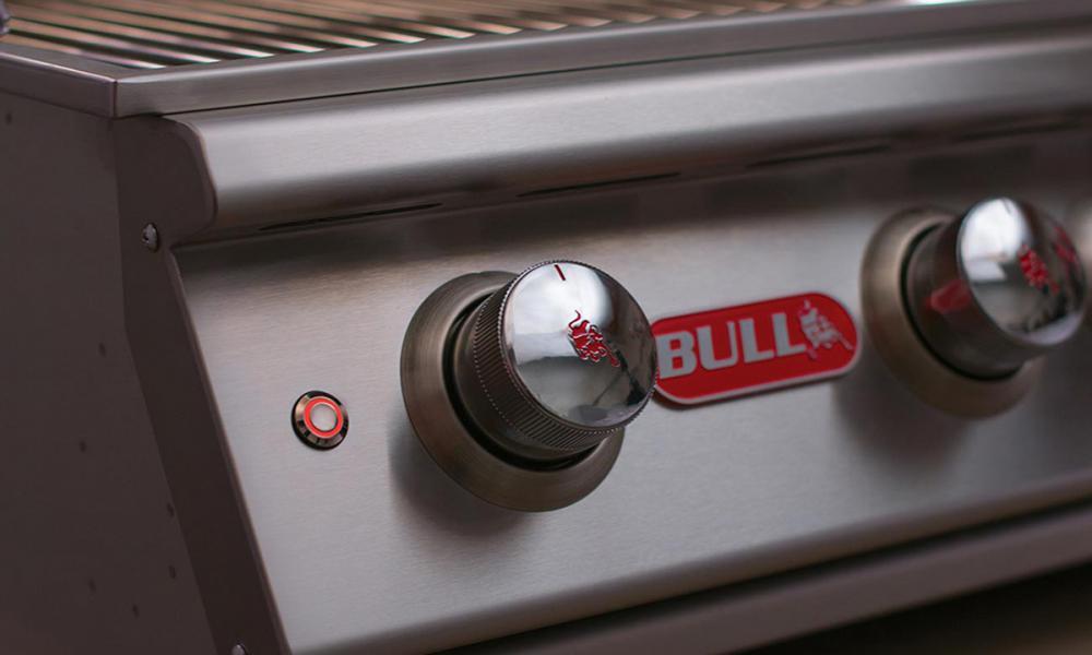 Bull BBQ Grill Head Close Up