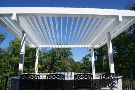 Equinox Louvered Pergola - Close up