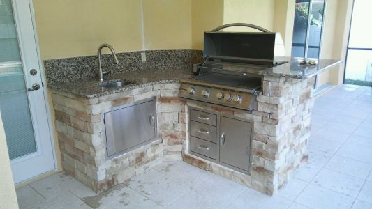 New Outdoor Kitchen in Sarasota