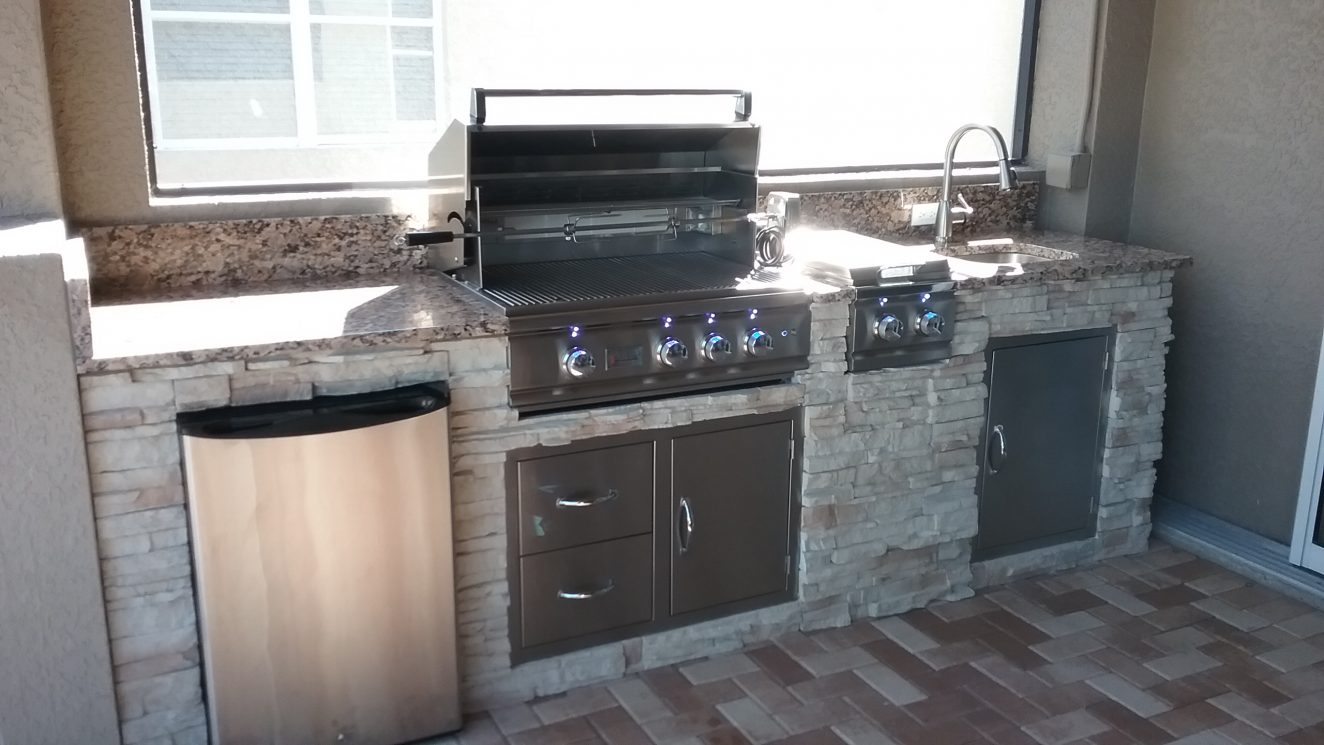 Custom outdoor kitchen portfolio radil construction for Kitchen installation