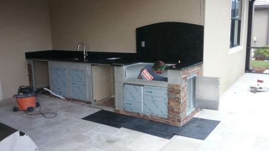 Construction of Outdoor Kitchen