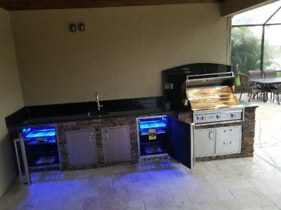 Sarasota Sandhill Preserve Finished Outdoor Kitchen