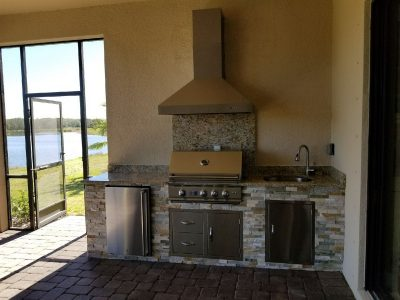 Built in grilling area