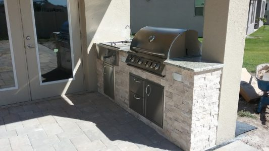 Lakewood Ranch Outdoor Kitchen with Blaze Appliances