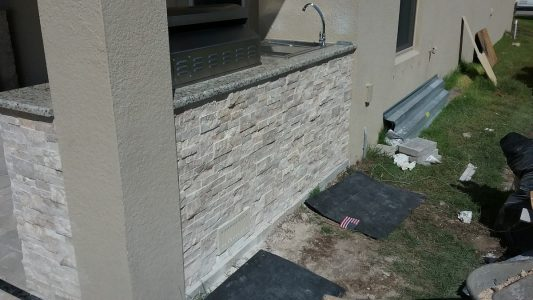 Finished stone work and granite countertops