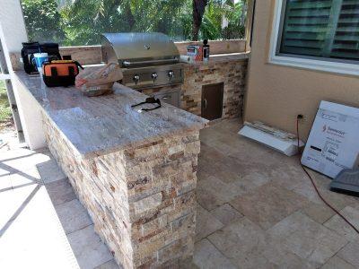 Bradenton Outdoor Kitchen - Bar Area
