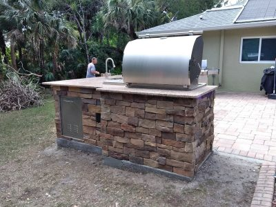 North Port Deluxe Backyard Barbecue - Back View