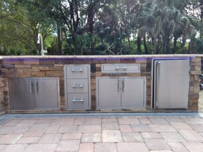 North Port Deluxe Backyard Barbecue - Doors and Drawers