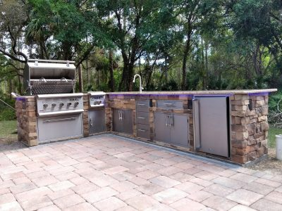 North Port Deluxe Backyard Barbecue - Grill Open