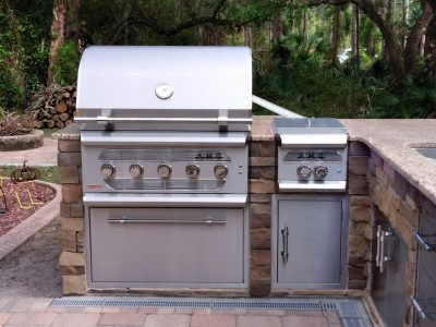 North Port Deluxe Backyard Barbecue - AMG Grill and Side Burner