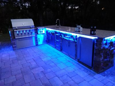 North Port Deluxe Backyard Barbecue - Under counter lighting