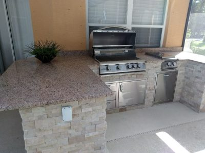 North Port Outdoor Kitchen with Blaze Appliances