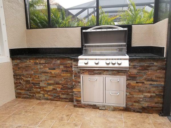 Port Charlotte Outdoor Kitchen - Blaze Grill