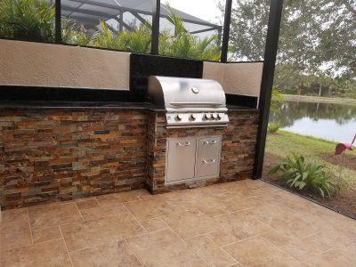 Port Charlotte Outdoor Kitchen - Granite Countertops
