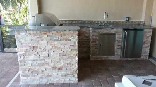 Punta Gorda Outdoor Kitchen - L Shape