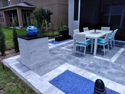 Patio with the water feature