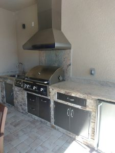 Venice Outdoor Kitchen - Grill Hood vent fridge sink