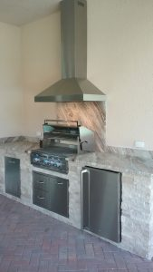 Venice Backyard Kitchen Self Recirculating Hood Vent
