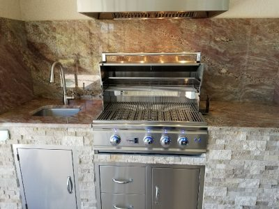 Venice Outdoor Kitchen with Summerset Grill and appliances