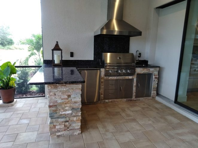 Finished Outdoor Kitchen area in Lakewood Ranch