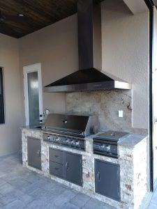 Punta Gorda outdoor kitchen barbecue area