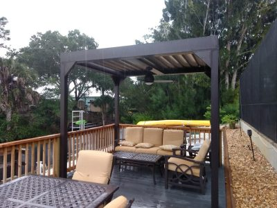 pergola with louvered roof